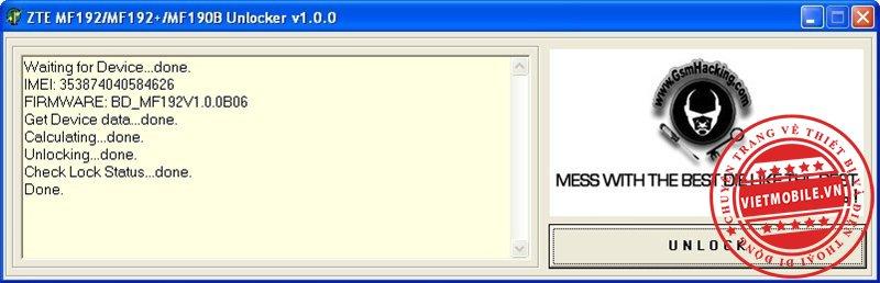 MF192 & MF190B unlocker free.