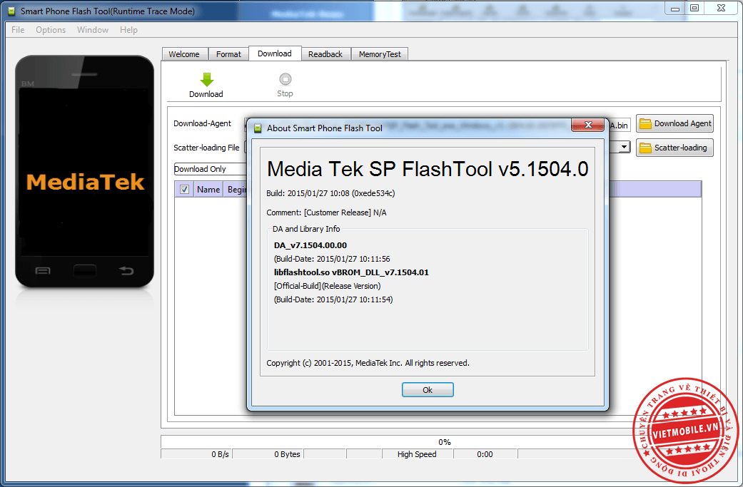 SP FlashTool v5.1504.0.