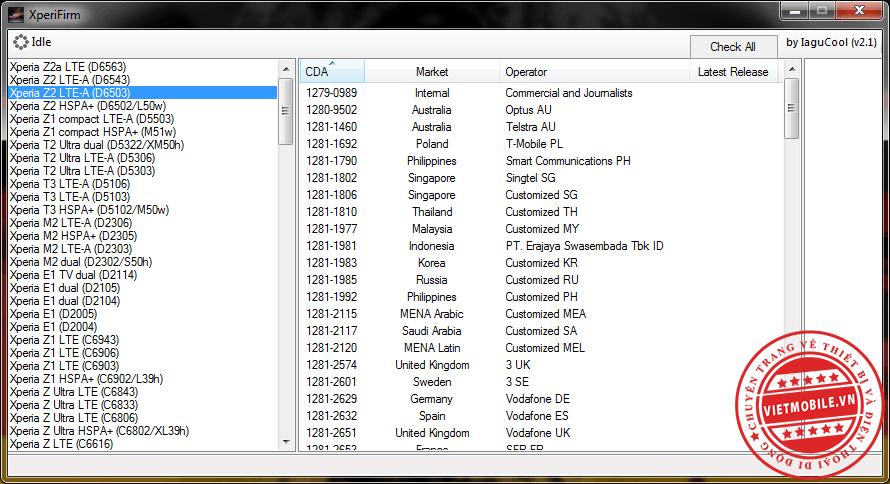 Xperia Firmware Downloader & Checker_1.