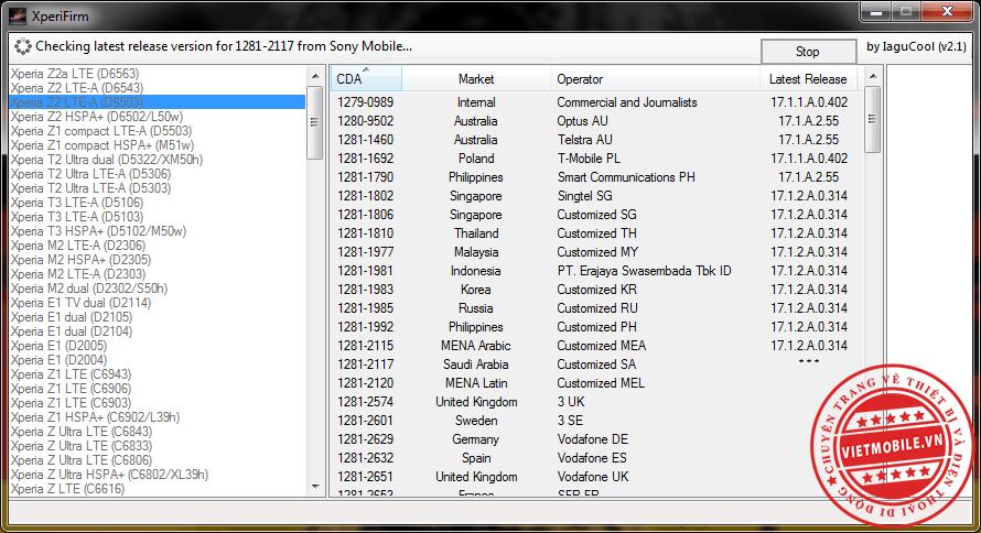 Xperia Firmware Downloader & Checker_2.